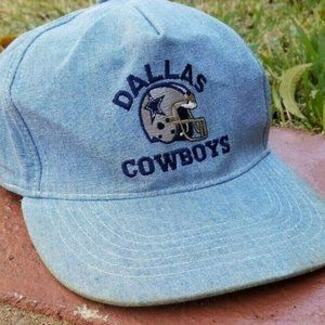 Vintage Dallas Cowboys Chambray Hat Football Cap